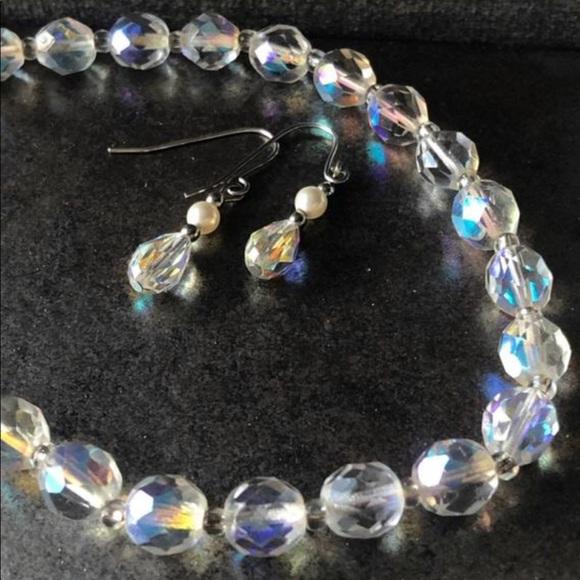 💝2/$20 Vintage Aurora Borealis Crystal Jewelry